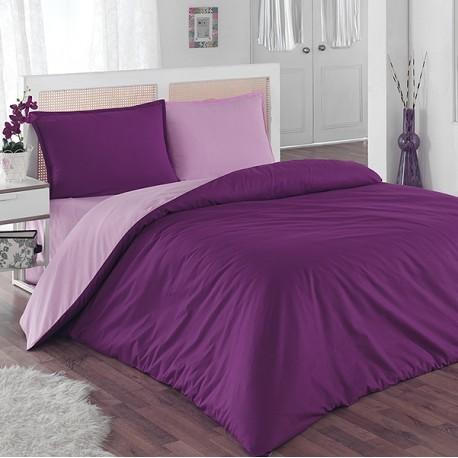Спално бельо Ранфорс - Пурпура Лила