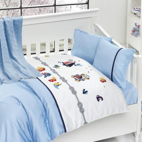 Бебешко спално бельо-Бамбук и одеяло - Капитан