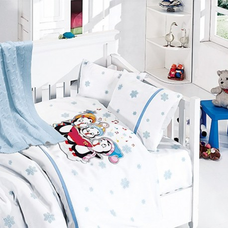 Бебешко спално бельо и одеяло - Пингвин