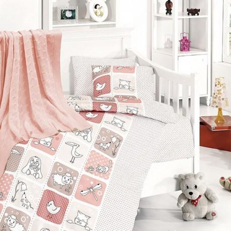 Бебешко спално бельо и одеяло - Зоопарк