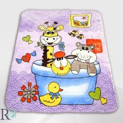 Бебешко одеяло - Жирафче в лила