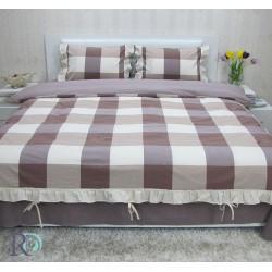 Двоен спален комплект естествен лен - бежов