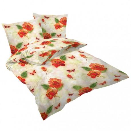 Спално бельо памучен сатен - Бътърфлай дрийм