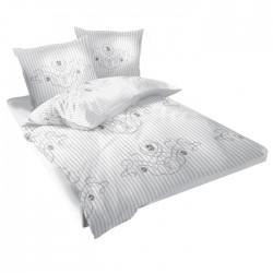 Спално бельо памучен сатен - Либърти-2 Бяло