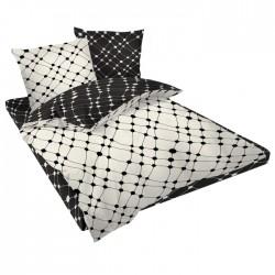 Спално бельо памучен сатен - Инфинити бяло