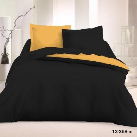 Двулицево спално бельо - Черно-Злато