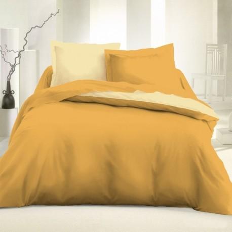 Двулицево спално бельо - Злато-Екрю