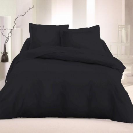 Едноцветно спално бельо - Черно