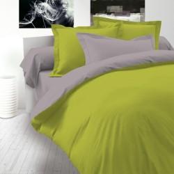Двулицево спално бельо Ранфорс - Зелено-Сиво