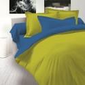 Двулицево спално бельо Ранфорс - Зелено-Синьо