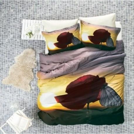 ЗD Спално бельо от бамбук - Бяла пеперуда