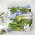 ЗD Спално бельо от бамбук - Лебед