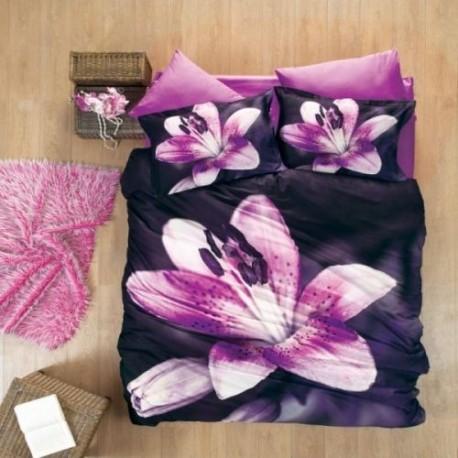 ЗD Спално бельо от бамбук - Розова лилия