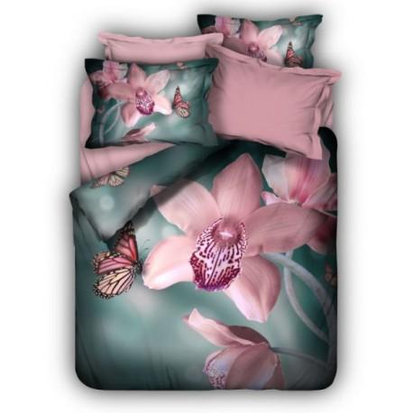 ЗD Спално бельо от Ранфорс хасе - Орхидея