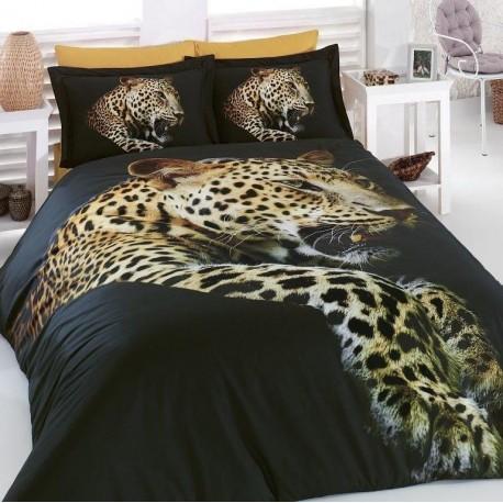 ЗD Спално бельо от Ранфорс хасе - Леопард