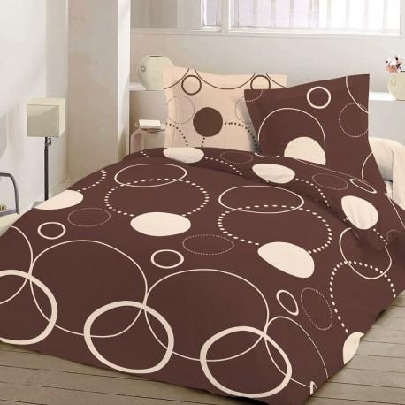 Спално бельо Ранфорс - Тристан - кафяв