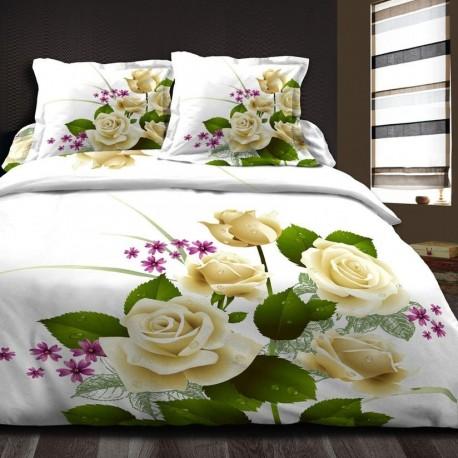 Спално бельо Ранфорс - Роза