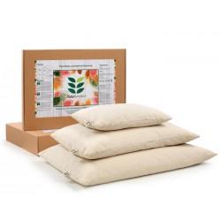Възглавница с растителен пълнеж био елда обвивки