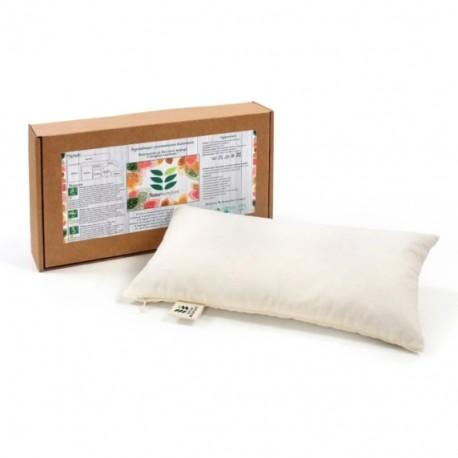Мини възглавница за път с растителен пълнеж био лимец обвивки