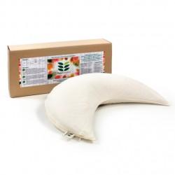Възглавница за кърмене с растителен пълнеж био лимец обвивки -Луна