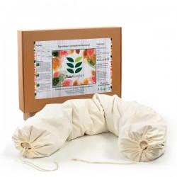Възглавница за бременност и кърмене с растителен пълнеж био лимец обвивки