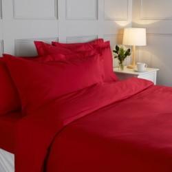 Едноцветно спално бельо - Червено
