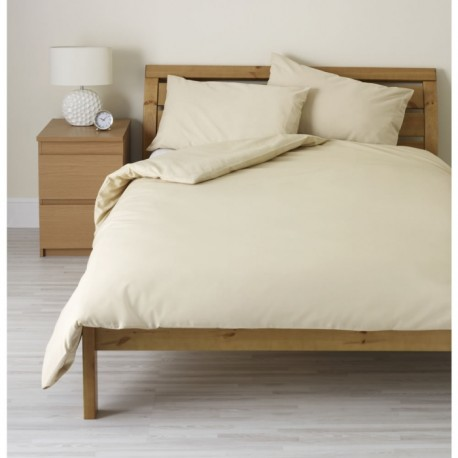 Едноцветно спално бельо - Екрю