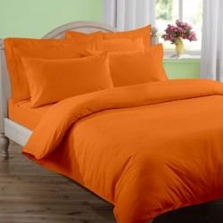 Едноцветно спално бельо - Оранж